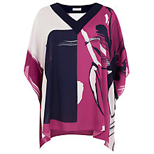 Buy Windsmoor Placement Floral Tunic Top, Multi Pink Online at johnlewis.com
