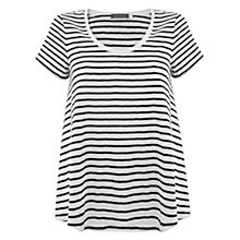 Buy Mint Velvet Swing Stripe T-shirt, Navy/Ivory Online at johnlewis.com