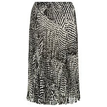 Buy Windsmoor Mono Print Crinkle Skirt, Multi Black Online at johnlewis.com