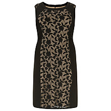 Buy Windsmoor Jersey Lace Dress, Black Online at johnlewis.com