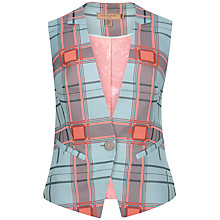 Buy Ted Baker Skinny Check Waistcoat, Mint Online at johnlewis.com