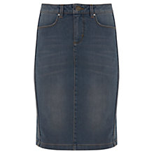 Buy Mint Velvet Wash Denim Skirt, Pebble Online at johnlewis.com