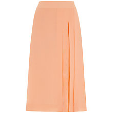 Buy Jaeger Soft Opaque Panel Skirt, Coral Pink Online at johnlewis.com