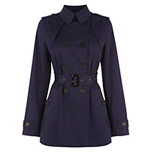 Buy Warehouse Pleat Back Mac Coat, Navy Online at johnlewis.com