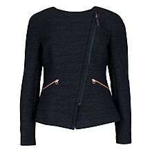 Buy Ted Baker Fold Front Biker Jacket, Blue Online at johnlewis.com