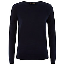 Buy Jaeger Gostwyck Crewneck Wool Jumper, Peacoat Online at johnlewis.com