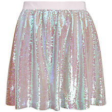 Buy Ted Baker Seend Sequin Skirt, Nude Pink Online at johnlewis.com