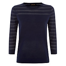 Buy Jaeger Sheer Stripe Jumper, Navy Online at johnlewis.com