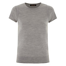 Buy Jaeger Gostwyck Short Sleeve Top, Light Grey Melange Online at johnlewis.com