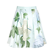 Buy Ted Baker Distinguishing Rose Skirt, Mint Online at johnlewis.com