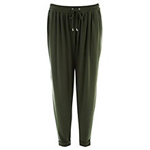 Buy Warehouse Tie Waist Crepe Jogger Online at johnlewis.com