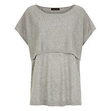 Buy Jaeger Wool Silk Blend Jumper, Light Grey Online at johnlewis.com