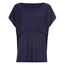 Buy Jaeger Wool Oversized Knit Top, Midnight Online at johnlewis.com