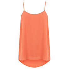 Buy Oasis Dip Back Cami Top, Soft Orange Online at johnlewis.com