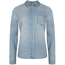 Buy Ted Baker Tab Detail Relaxed Shirt, Mid Wash Online at johnlewis.com