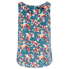 Buy Oasis Bloom Mini Vest, Mid Blue Online at johnlewis.com