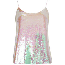 Buy Ted Baker Eladia Sequin Cami Top, Nude Pink Online at johnlewis.com