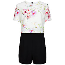 Buy Ted Baker Mirrored Tropics Playsuit, Black Online at johnlewis.com