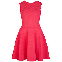Buy Ted Baker Flippy Hem Detailed Dress, Orange Online at johnlewis.com