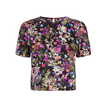 Buy Oasis Digital Floral Print T-Shirt, Multi Online at johnlewis.com