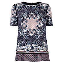 Buy Warehouse Floral And Geo Print T-shirt, Multi Online at johnlewis.com