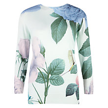Buy Ted Baker Distinguishing Rose Jumper, Mint Online at johnlewis.com