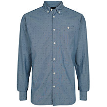 Buy Jaeger Chambray Paisley Slim Fitting Shirt, Blue Online at johnlewis.com