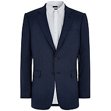 Buy Jaeger Herringbone Soft Jacket, Mid Blue Online at johnlewis.com