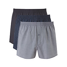Buy John Lewis Antonio Archive Woven Boxer Shorts, Pack of 3, Blue Online at johnlewis.com