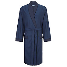 Buy John Lewis Cotton Satin Stripe Robe, Blue Online at johnlewis.com