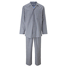 Buy John Lewis Bob Brushed Check Cotton Pyjamas, Grey Online at johnlewis.com