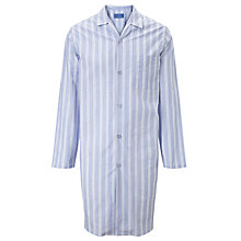 Buy John Lewis Oli Stripe Cotton Nightshirt, Blue/White Online at johnlewis.com