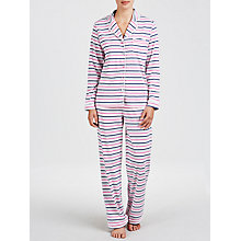 Buy John Lewis Stripe Pyjama Set, Grey / Pink Online at johnlewis.com