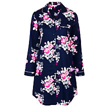 Buy John Lewis Large Floral Nightshirt, Navy Online at johnlewis.com