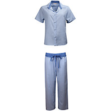 Buy Cyberjammies Melissa Stripe Pyjama Set, Blue Online at johnlewis.com