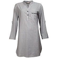 Buy Cyberjammies Freya Stripe Nightshirt, Black / White Online at johnlewis.com