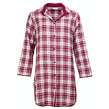 Buy Cyberjammies Scarlet Check Nightshirt, Red Online at johnlewis.com