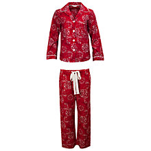 Buy Cyberjammies Emily Print Pyjama Set, Red Online at johnlewis.com