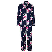 Buy John Lewis Large Floral Pyjama Set, Navy Online at johnlewis.com