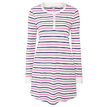 Buy John Lewis Stripe Nightdress, Pink / Grey Online at johnlewis.com