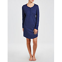 Buy John Lewis Carrie Spot Nightdress, Navy Online at johnlewis.com