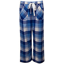 Buy Cyberjammies Maggie Check Pyjama Pants, Blue Online at johnlewis.com