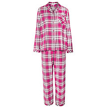 Buy John Lewis Check Pyjama Set, Pink Online at johnlewis.com
