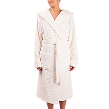 Buy Cyberjammies Maggie Textured Robe, Cream Online at johnlewis.com