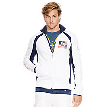 Buy Polo Ralph Lauren Track Jacket, White/Multi Online at johnlewis.com