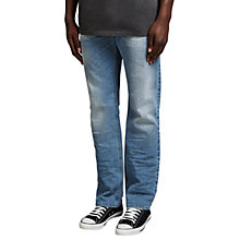 Buy Diesel Larkee 842H Relaxed Jeans, Mid Wash Online at johnlewis.com