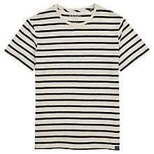 Buy Joules Skipperton Slub Stripe T-Shirt, Creme Stripe Online at johnlewis.com