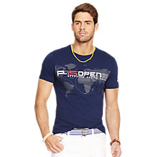 Buy Polo Ralph Lauren America's Cup Logo T-Shirt, French Navy Online at johnlewis.com