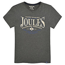 Buy Joules Harborough Logo T-shirt, Castle Grey Online at johnlewis.com