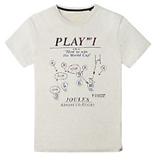 Buy Joules Harborough World Cup T-Shirt, Antique Creme Online at johnlewis.com